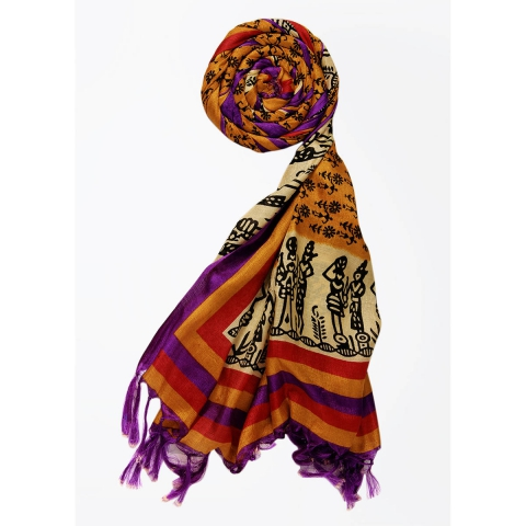 Silk Cotton Blend Printed Women's Dupatta 3